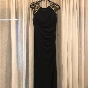 Xscape black embellished Gown